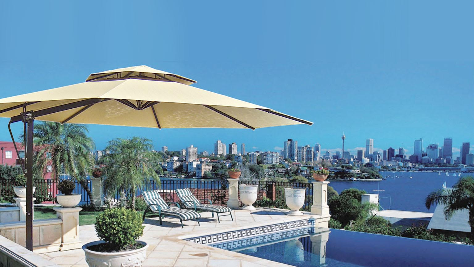 Outdoor Cantilever Umbrellas Pool Amp Patio Tropicover