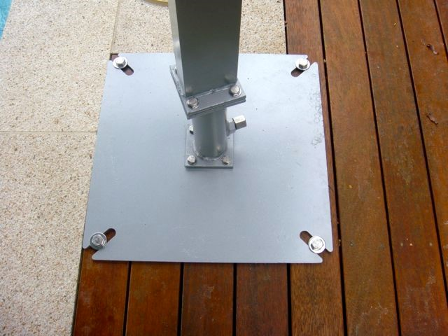 Umbrella Bases From Inground Amp Bolted To Mobile On Castors